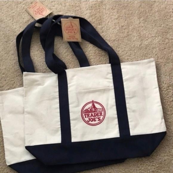 Trader Joe's Handbags - NWT 2 Trader Joe's Reusable Canvas ♻️Eco Tote Bag